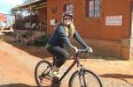 Shawna and Nancy rode mountain bikes